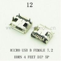 Разъем DIP фото12 USB micro B female 7,2вилка 4лапки 5pin