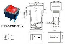 Переключатель KCD4-201N11CRBA ON-OFF 4pin=KCD2-201/N