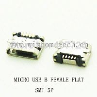 Разъем SMT фото33 USB micro B female flat 5pin