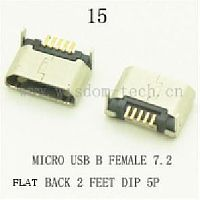 Разъем DIP фото15 USB micro B female 7,2back 2лапки 5pin