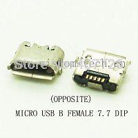 Разъем DIP фото30 USB micro B female 7,7 переверн